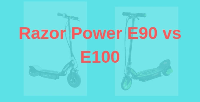 Razor Power E90 vs E100 Electric Scooter